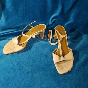 Kenneth Cole Reaction tan leather sandals